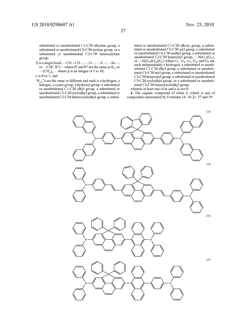CYCLOPENTAPHENANTHRENE-BASED COMPOUND AND ORGANIC ELECTROLUMINESCENT DEVICE USING THE SAME - diagram, schematic, and image 31