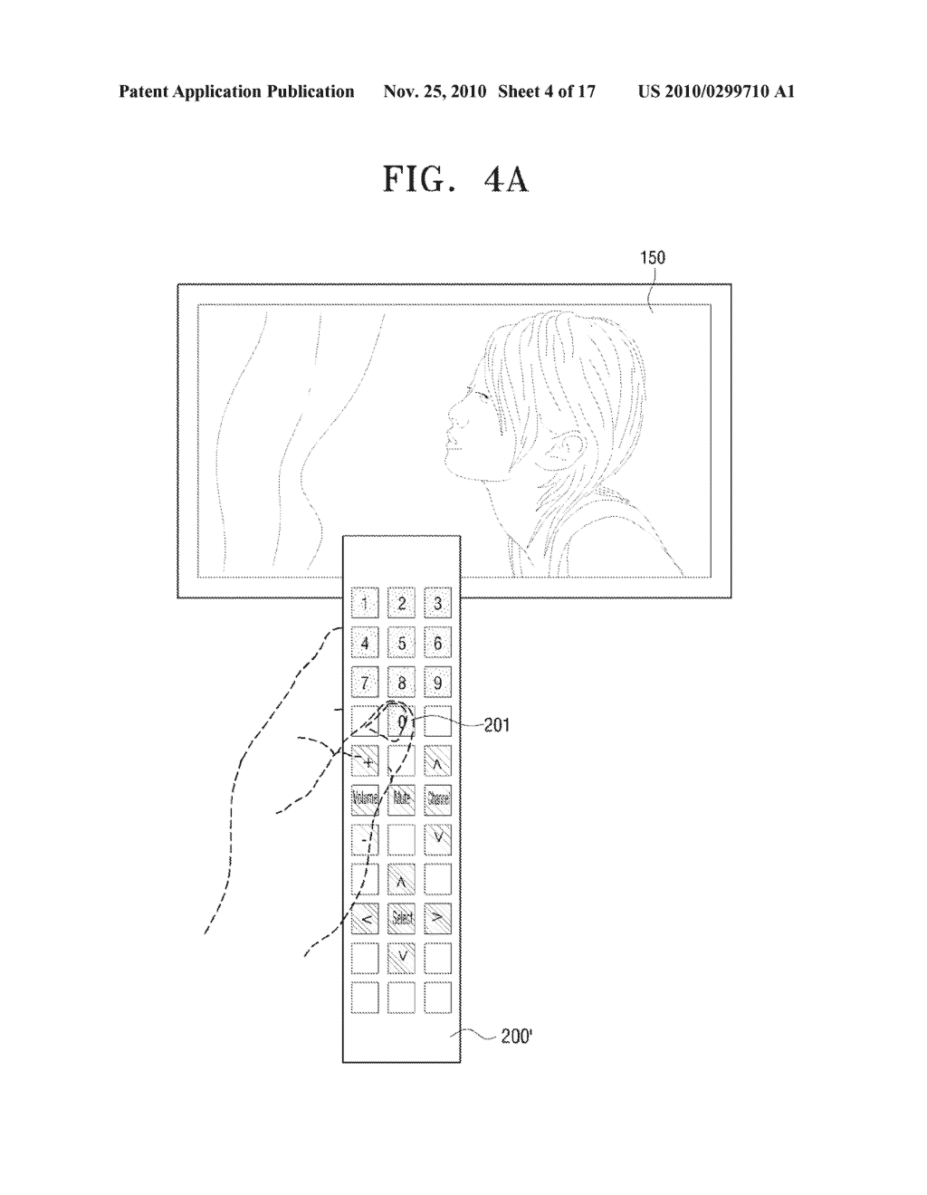 METHOD FOR INPUTTING USER COMMAND AND VIDEO APPARATUS AND INPUT APPARATUS EMPLOYING THE SAME - diagram, schematic, and image 05