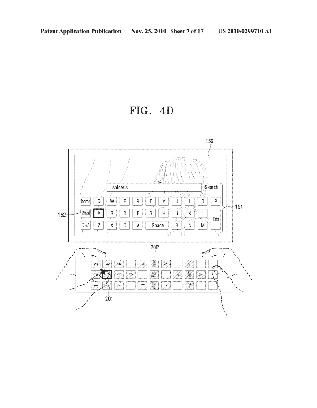METHOD FOR INPUTTING USER COMMAND AND VIDEO APPARATUS AND INPUT APPARATUS EMPLOYING THE SAME - diagram, schematic, and image 08