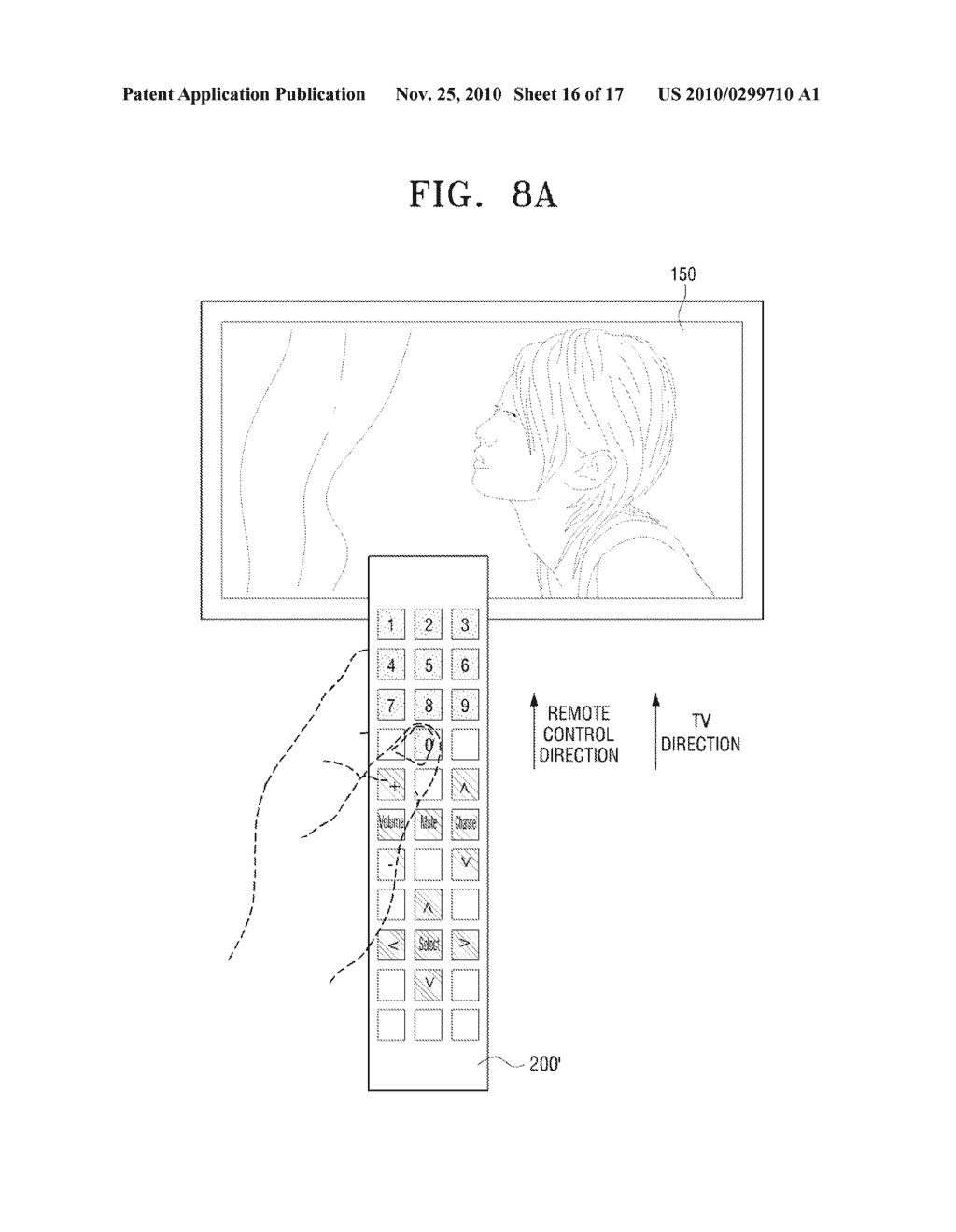 METHOD FOR INPUTTING USER COMMAND AND VIDEO APPARATUS AND INPUT APPARATUS EMPLOYING THE SAME - diagram, schematic, and image 17