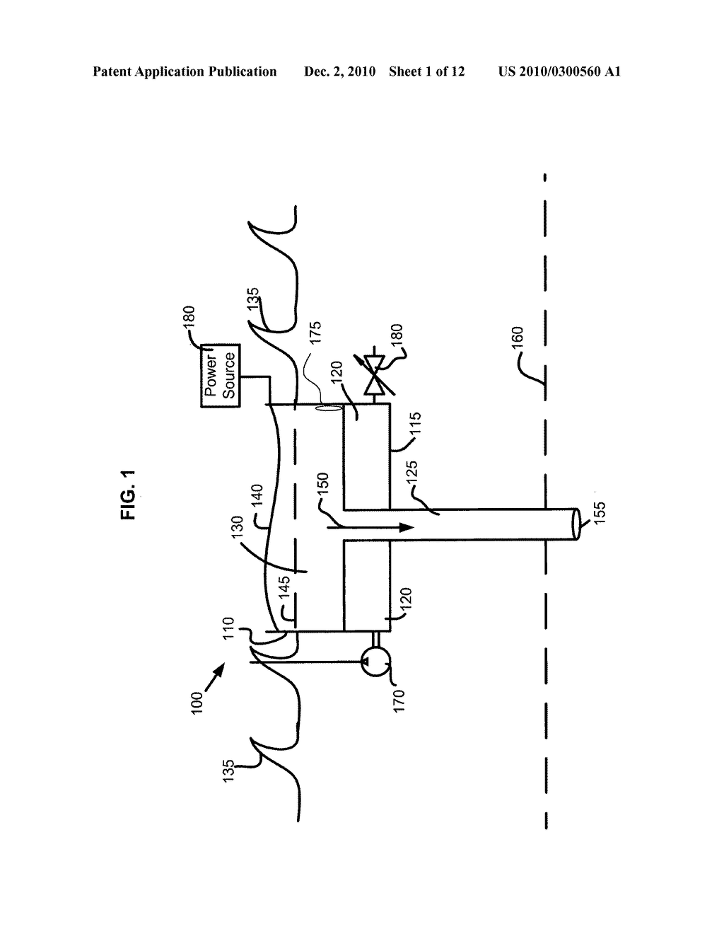 Water alteration structure and system having heat transfer conduit - diagram, schematic, and image 02