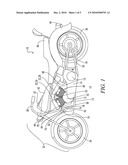 MOTORCYCLE WITH A BLOWER FOR ENGINE COOLING diagram and image
