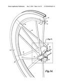 COMPOSITE FIBER BICYCLE WHEELS diagram and image
