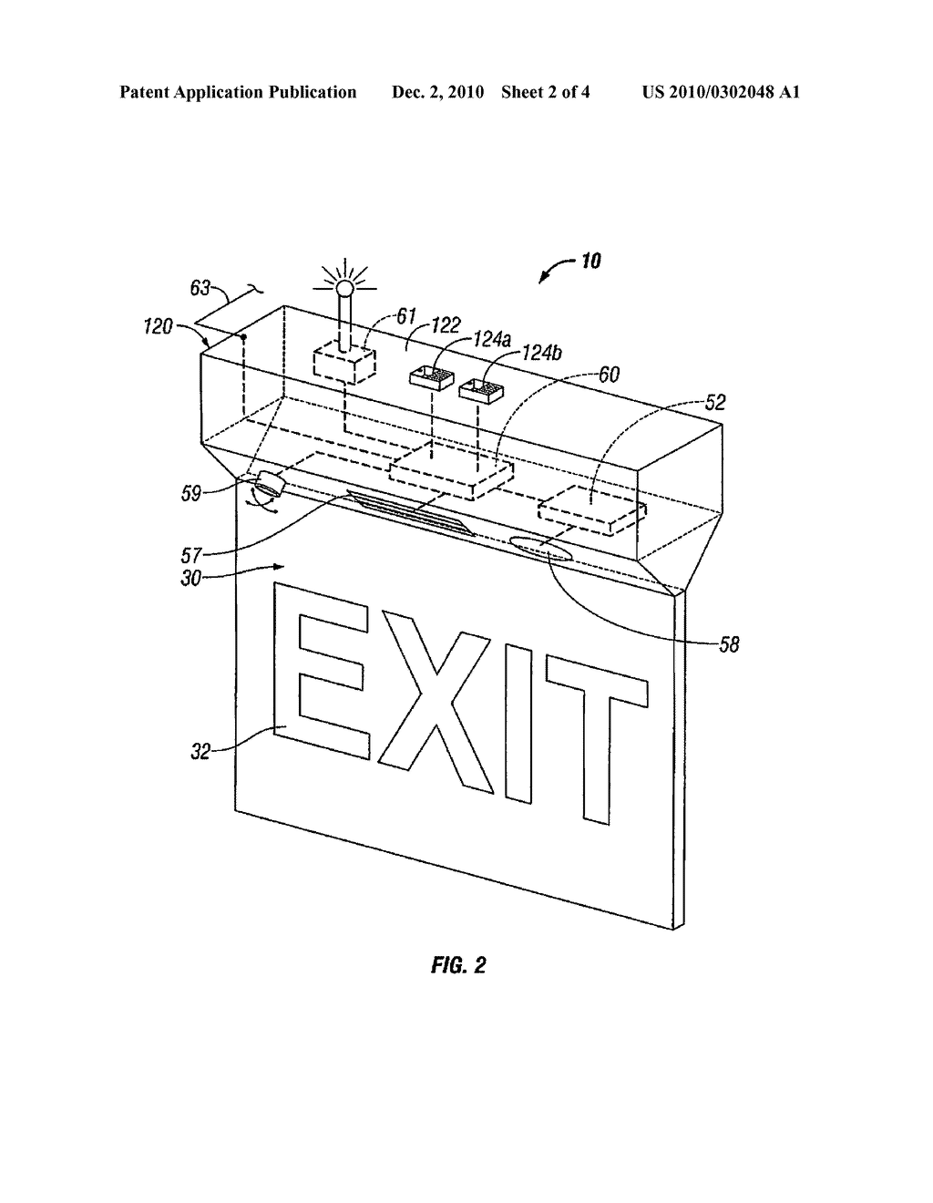 intelligent exit sign diagram, schematic, and image 03