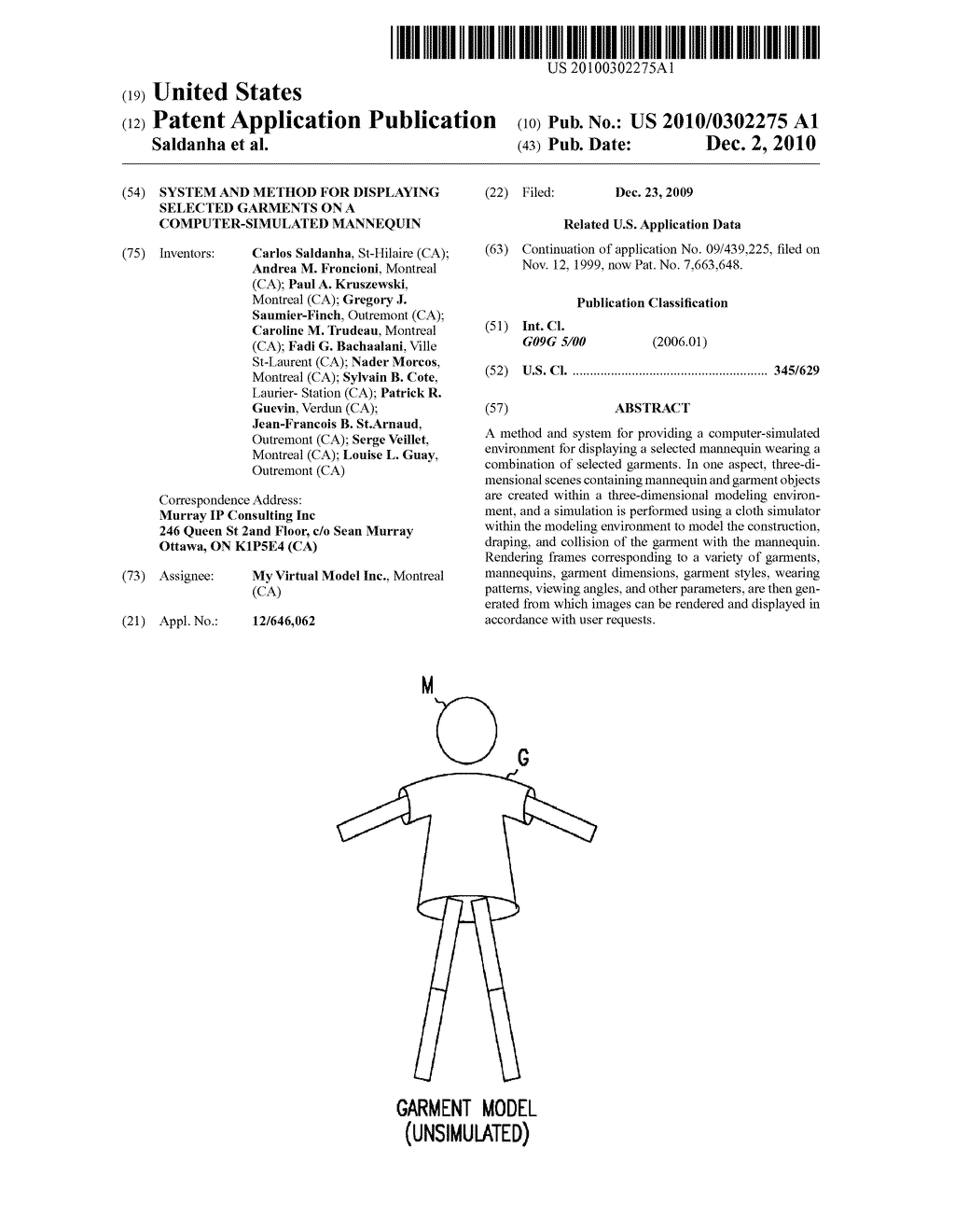 SYSTEM AND METHOD FOR DISPLAYING SELECTED GARMENTS ON A COMPUTER-SIMULATED MANNEQUIN - diagram, schematic, and image 01