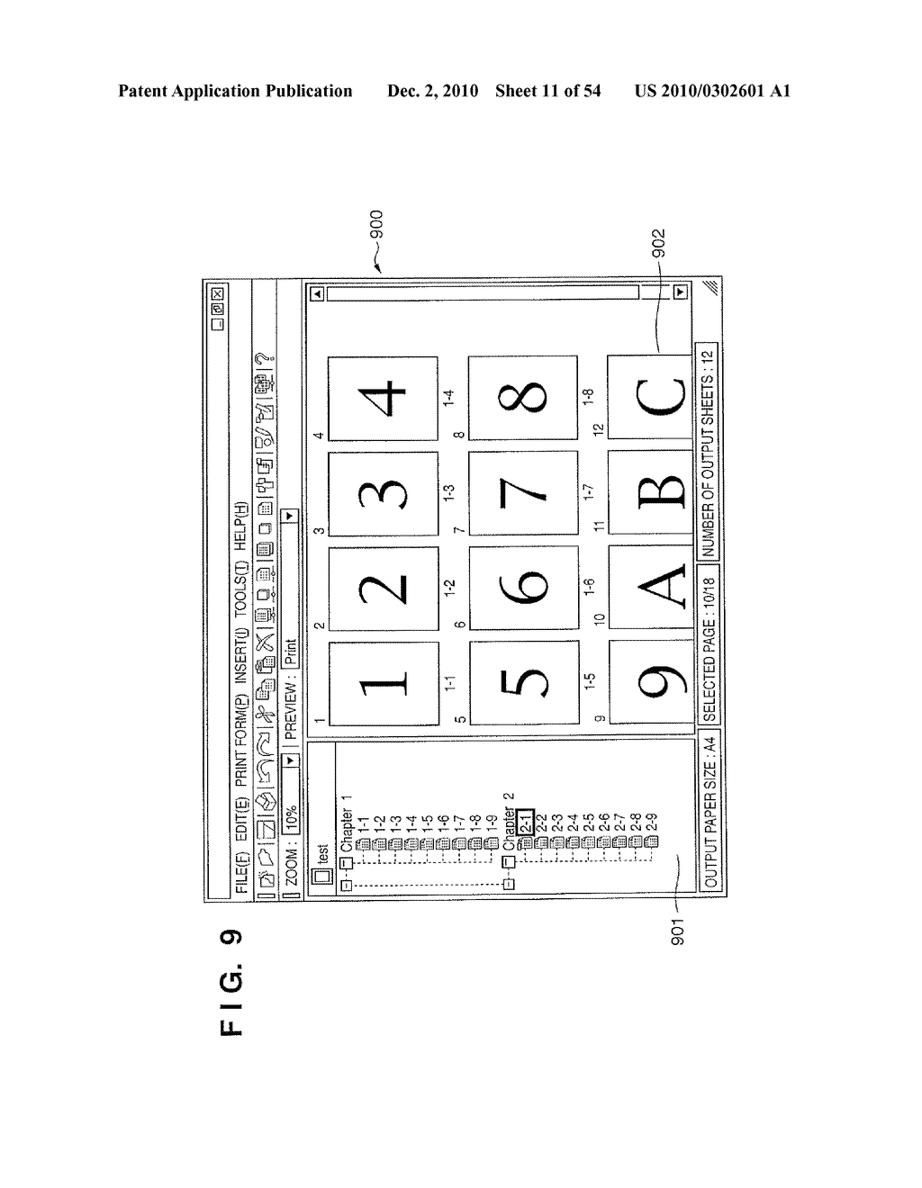 DOCUMENT CREATION METHOD AND DOCUMENT CREATION APPARATUS FOR REFLECTING A DOCUMENT STRUCTURE OF A PAPER DOCUMENT IN AN ELECTRONIC DOCUMENT - diagram, schematic, and image 12