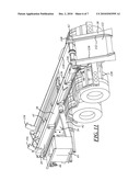 ROLL OFF HOIST WITH HINGED TAIL AND HYDRAULIC REEVING SYSTEM diagram and image
