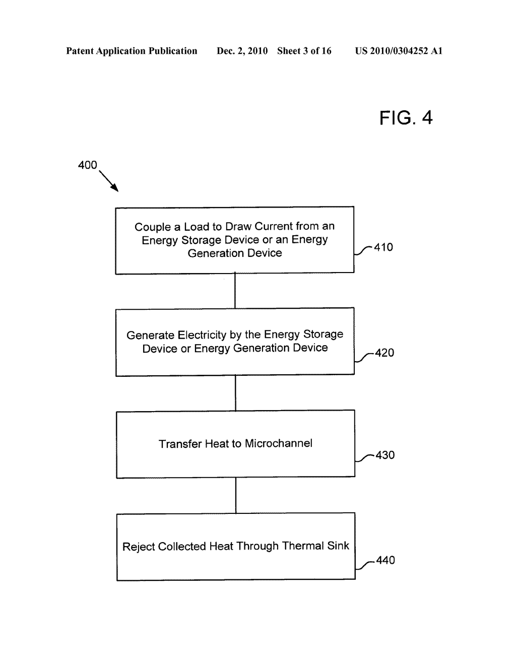 System for altering temperature of an electrical energy storage device or an electrochemical energy generation device using microchannels based on states of the device - diagram, schematic, and image 04