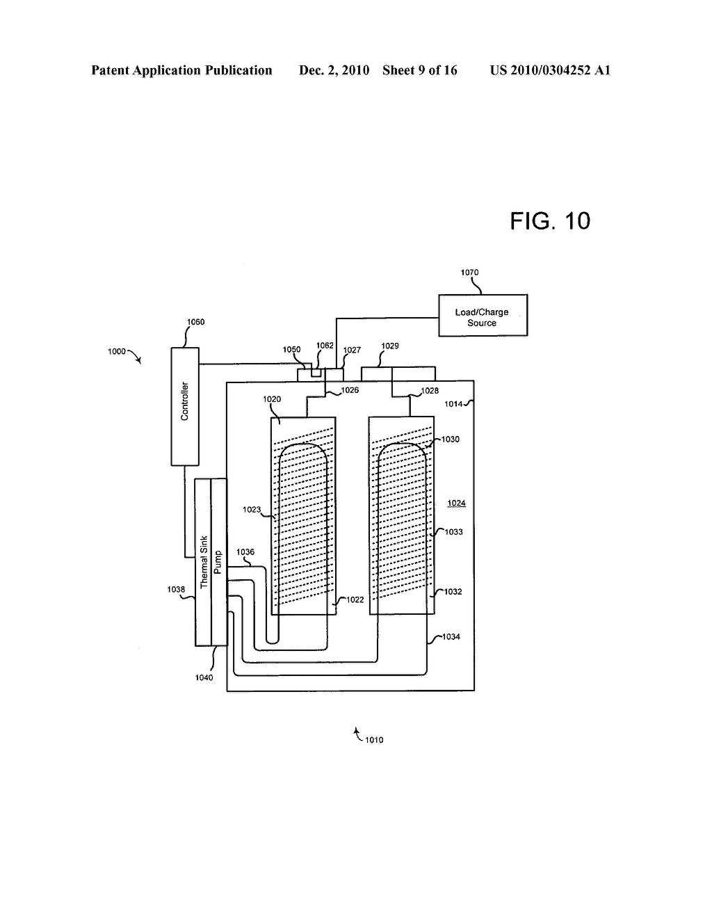 System for altering temperature of an electrical energy storage device or an electrochemical energy generation device using microchannels based on states of the device - diagram, schematic, and image 10