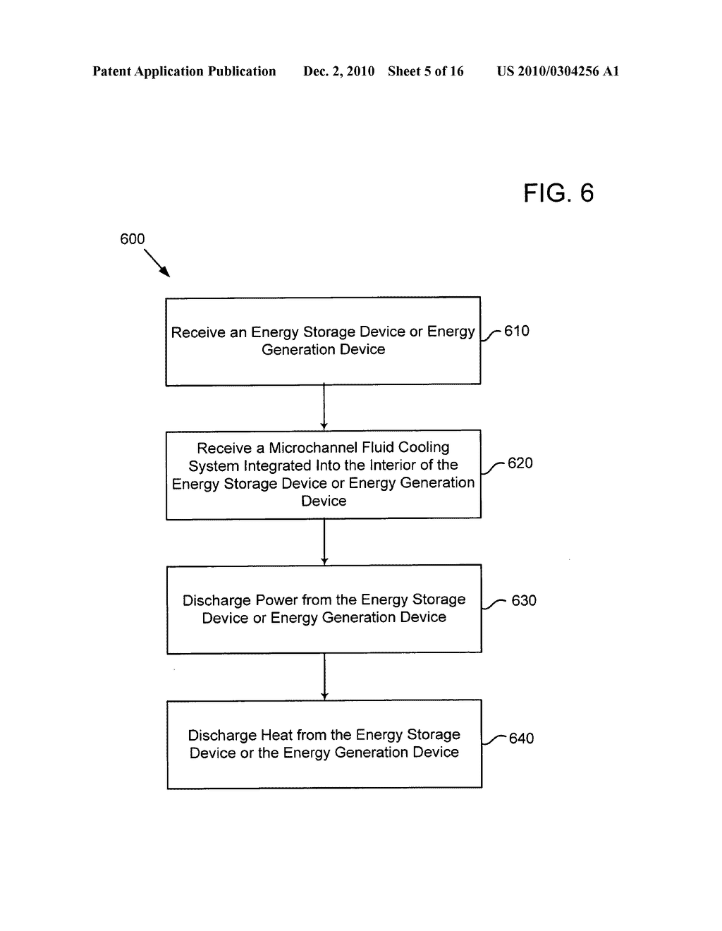 Method of operating an electrical energy storage device using microchannels during charge and discharge - diagram, schematic, and image 06