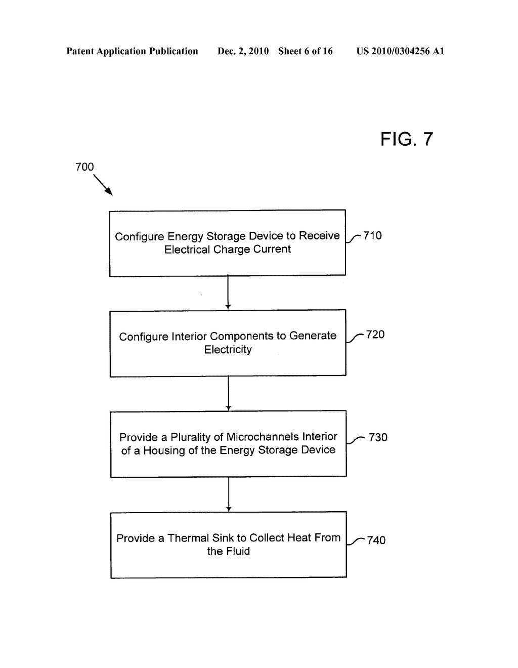 Method of operating an electrical energy storage device using microchannels during charge and discharge - diagram, schematic, and image 07
