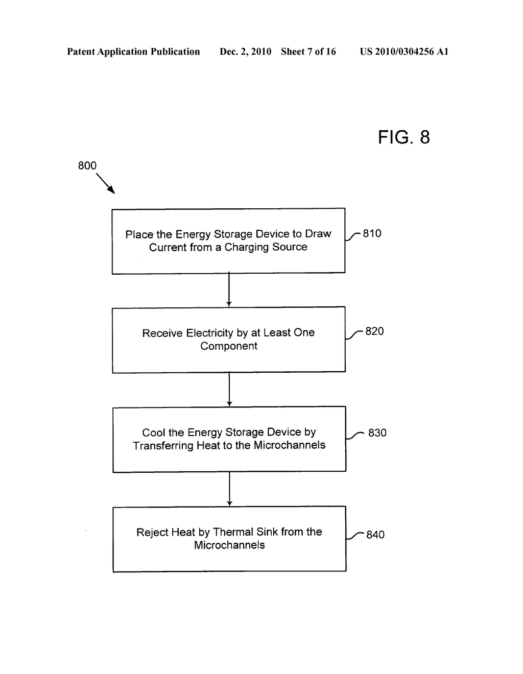 Method of operating an electrical energy storage device using microchannels during charge and discharge - diagram, schematic, and image 08