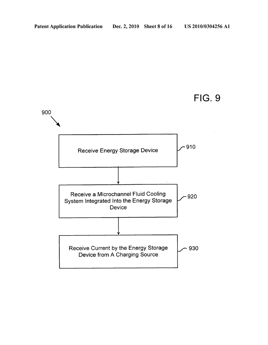 Method of operating an electrical energy storage device using microchannels during charge and discharge - diagram, schematic, and image 09