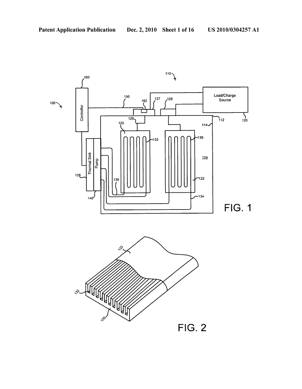 System and method of operating an electrical energy storage device or an electrochemical energy generation device using microchannels and high thermal conductivity materials - diagram, schematic, and image 02