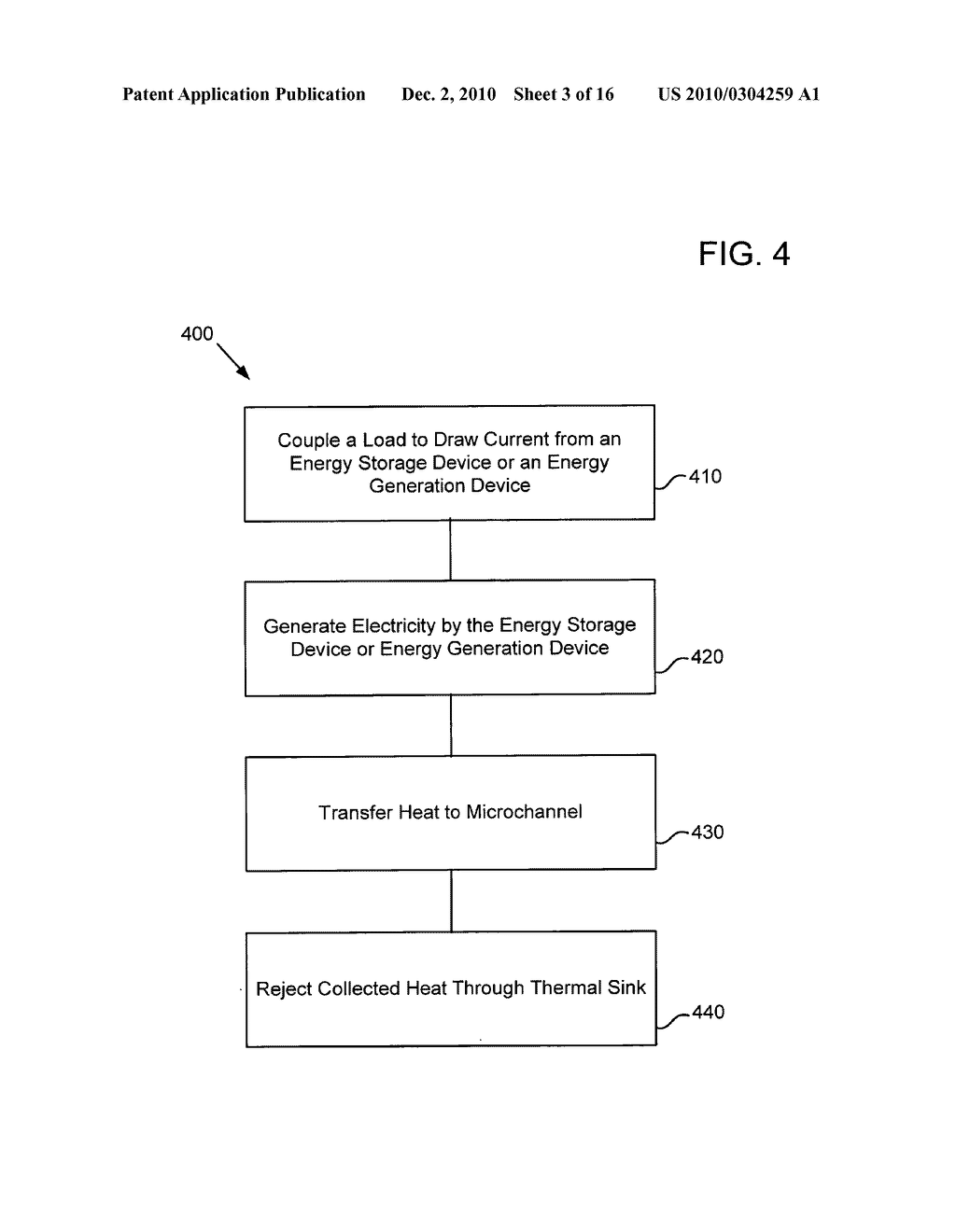 Method of operating an electrical energy storage device or an electrochemical energy generation device using high thermal conductivity materials during charge and discharge - diagram, schematic, and image 04