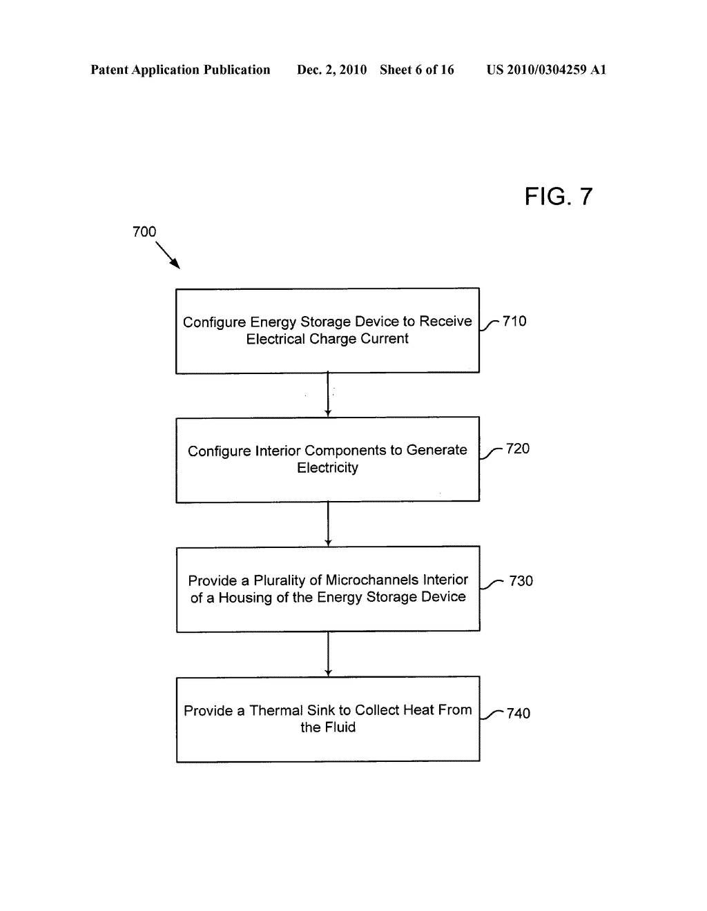 Method of operating an electrical energy storage device or an electrochemical energy generation device using high thermal conductivity materials during charge and discharge - diagram, schematic, and image 07
