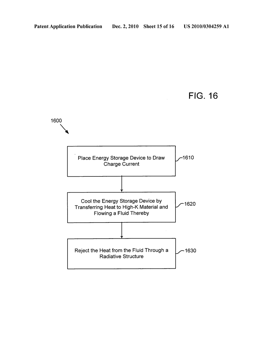 Method of operating an electrical energy storage device or an electrochemical energy generation device using high thermal conductivity materials during charge and discharge - diagram, schematic, and image 16