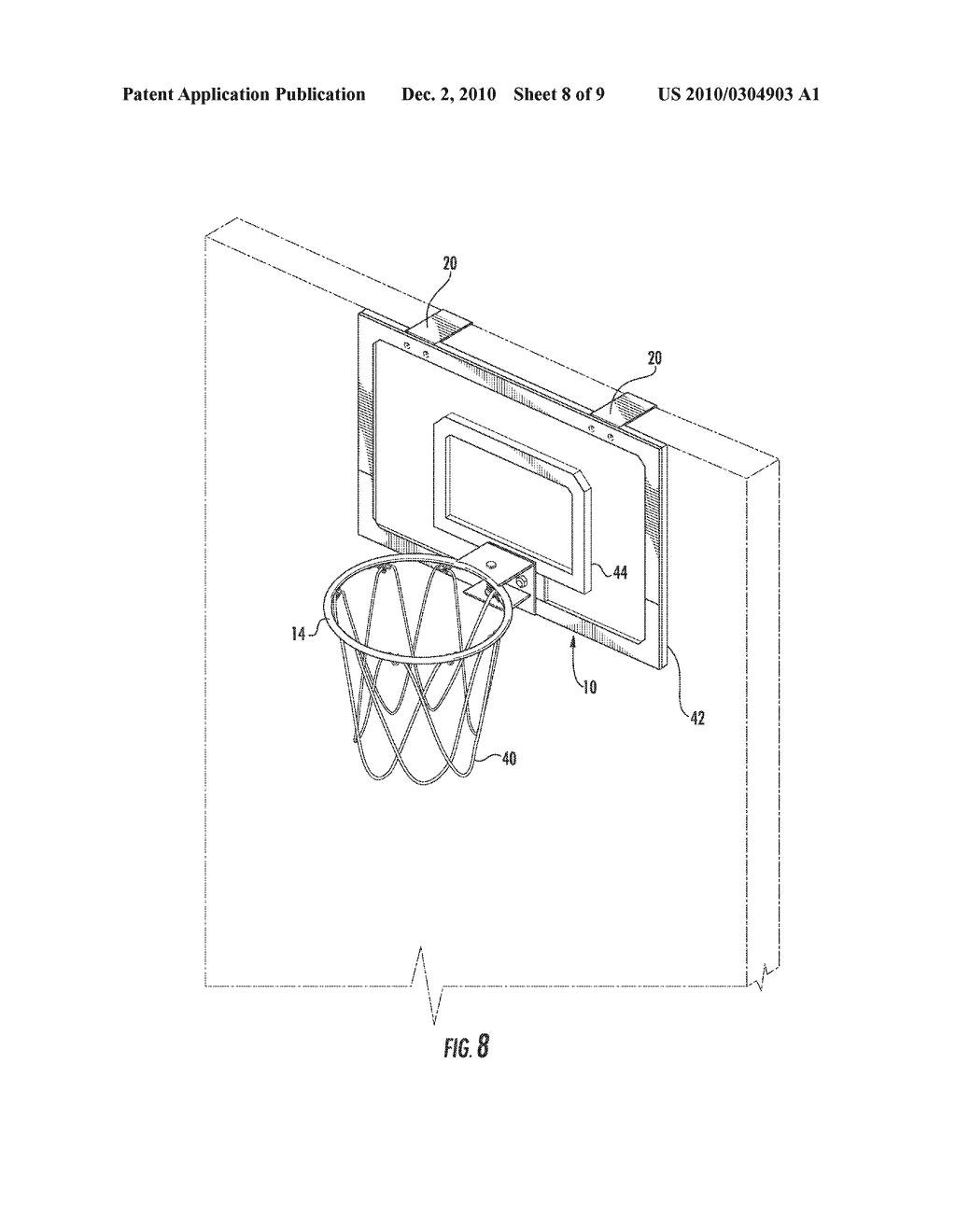 miniature door mounted basketball hoop diagram schematic and rh patentsencyclopedia com basketball hoop height diagram Parts of a Basketball Hoop