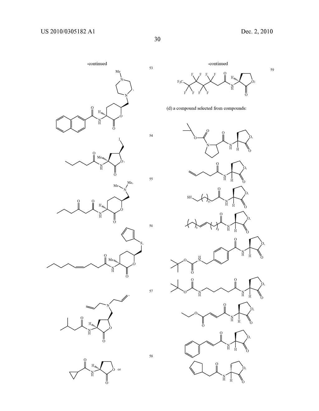 COMPOUNDS AND METHODS FOR MODULATING COMMUNICATION AND VIRULENCE IN QUORUM SENSING BACTERIA - diagram, schematic, and image 107