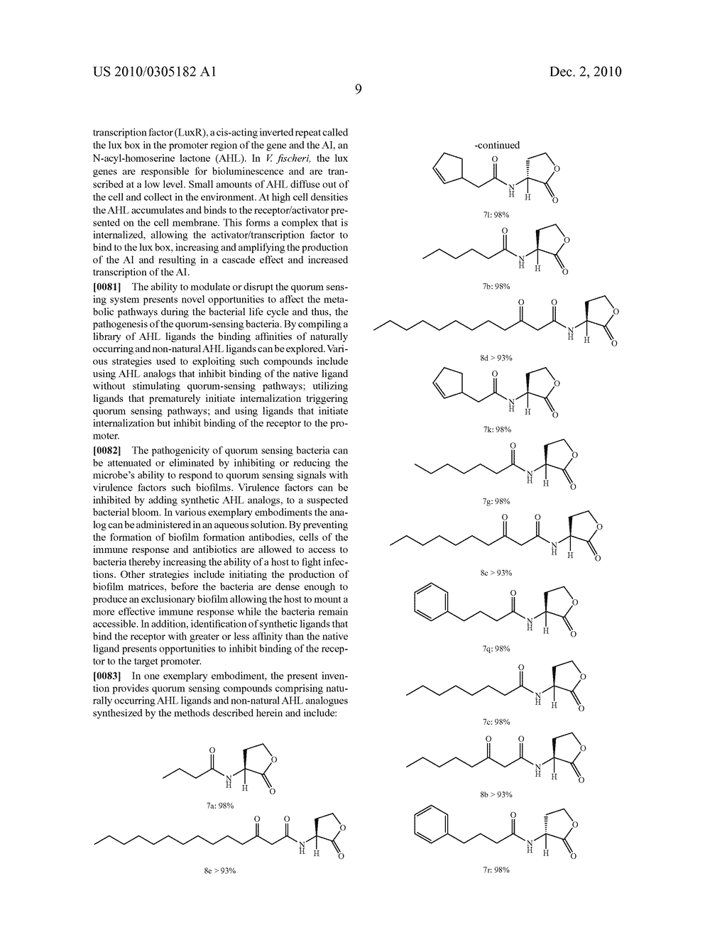 COMPOUNDS AND METHODS FOR MODULATING COMMUNICATION AND VIRULENCE IN QUORUM SENSING BACTERIA - diagram, schematic, and image 86