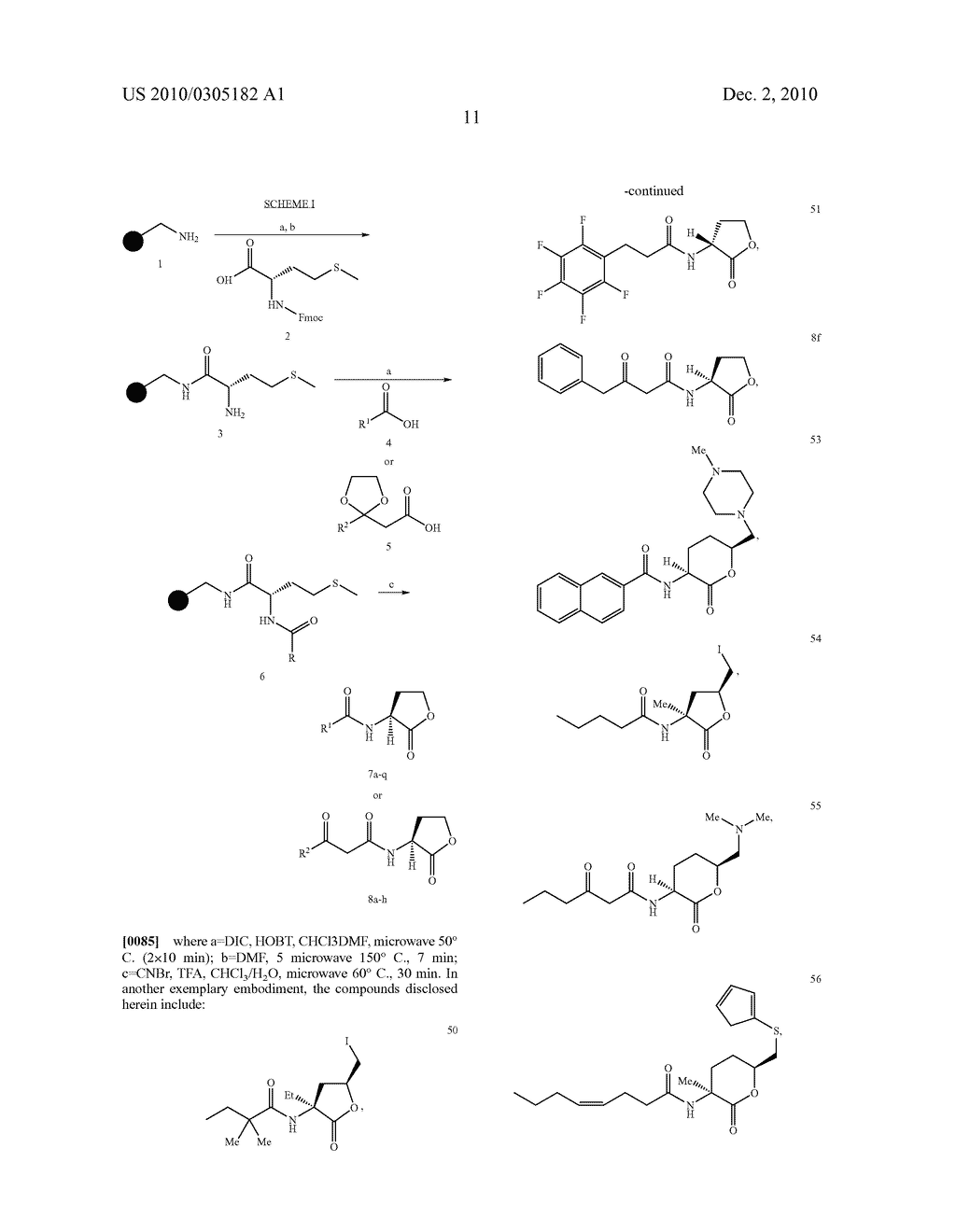 COMPOUNDS AND METHODS FOR MODULATING COMMUNICATION AND VIRULENCE IN QUORUM SENSING BACTERIA - diagram, schematic, and image 88