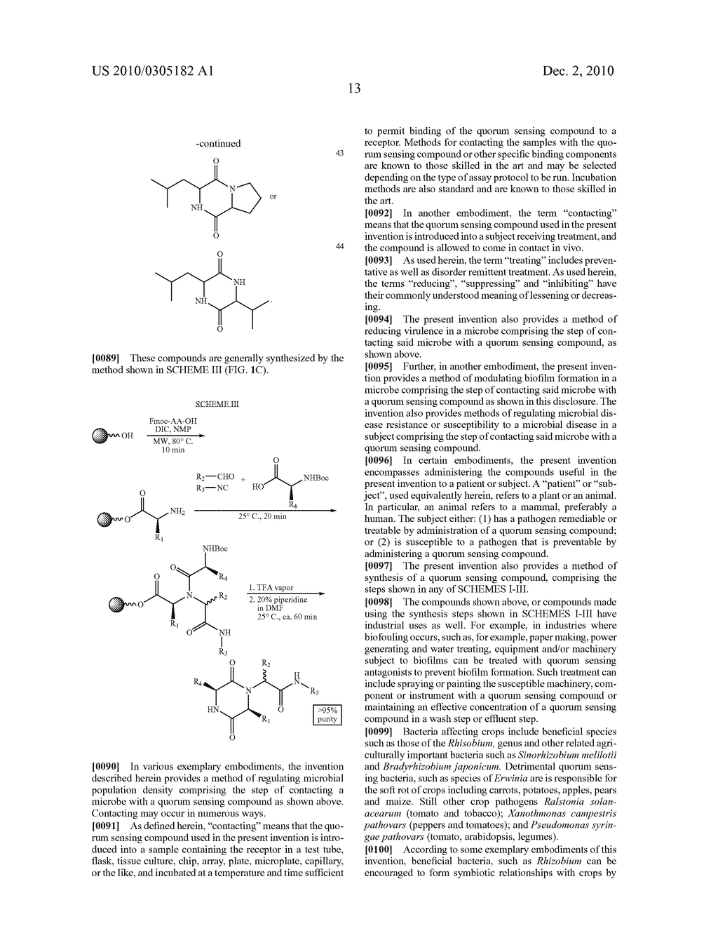 COMPOUNDS AND METHODS FOR MODULATING COMMUNICATION AND VIRULENCE IN QUORUM SENSING BACTERIA - diagram, schematic, and image 90