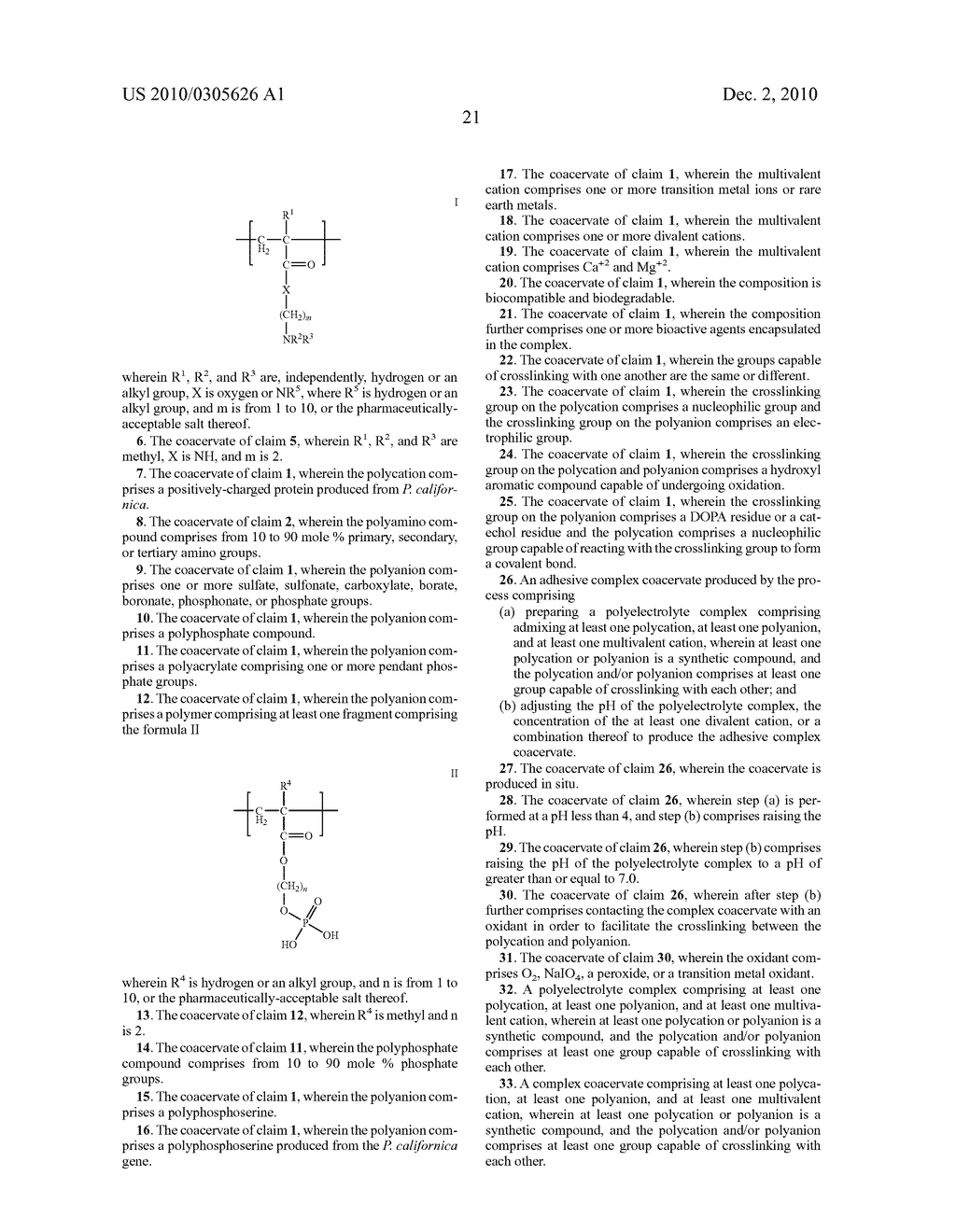 ADHESIVE COMPLEX COACERVATES AND METHODS OF MAKING AND USING THEREOF - diagram, schematic, and image 40