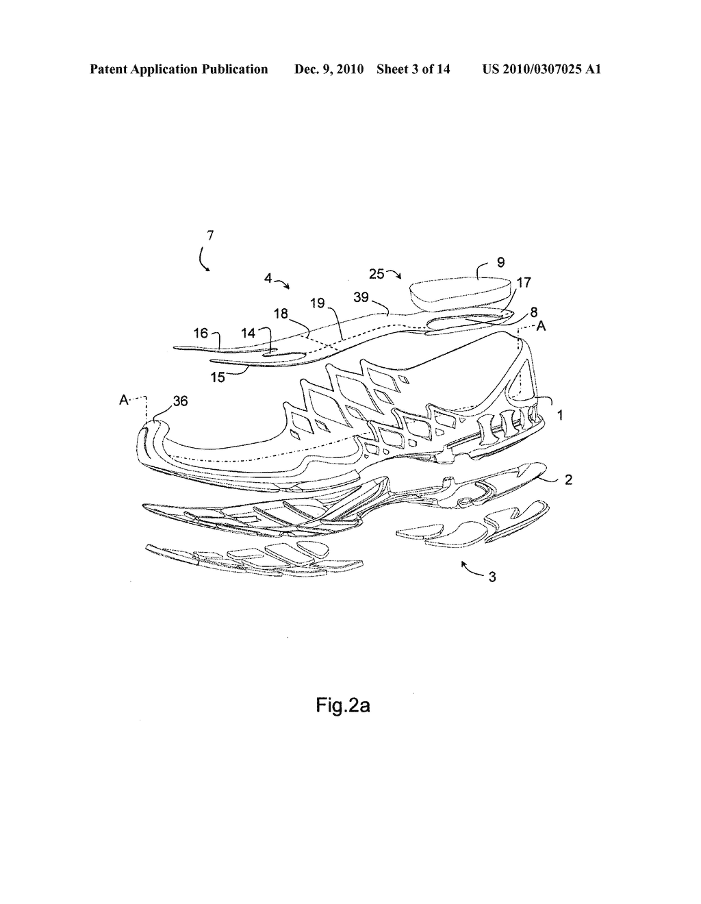 midsole for a shoe, in particular a running shoe - diagram, schematic, and  image 04
