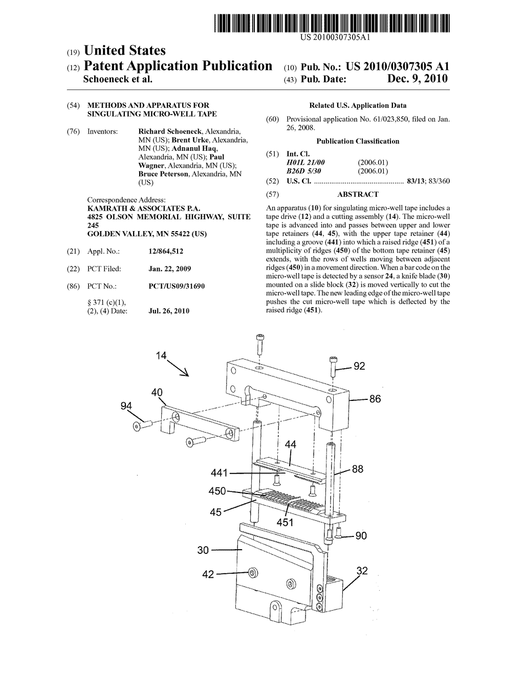 Methods and Apparatus for Singulating Micro-well Tape - diagram, schematic, and image 01