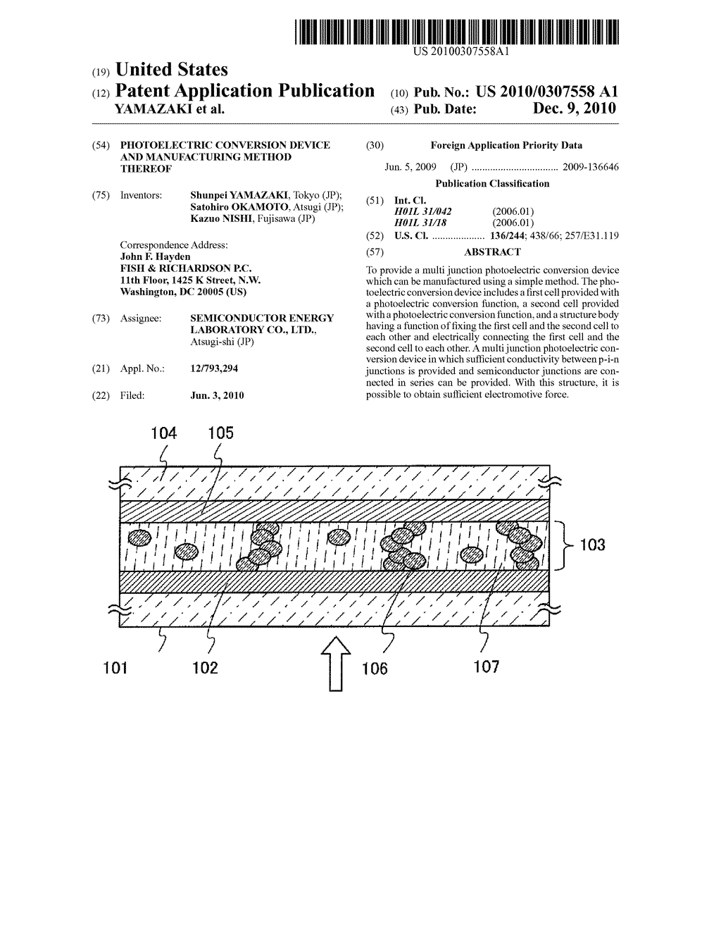 PHOTOELECTRIC CONVERSION DEVICE AND MANUFACTURING METHOD THEREOF - diagram, schematic, and image 01