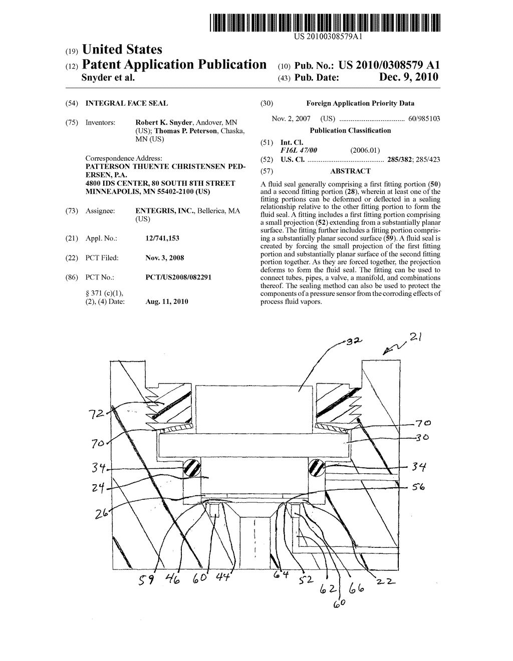 INTEGRAL FACE SEAL - diagram, schematic, and image 01