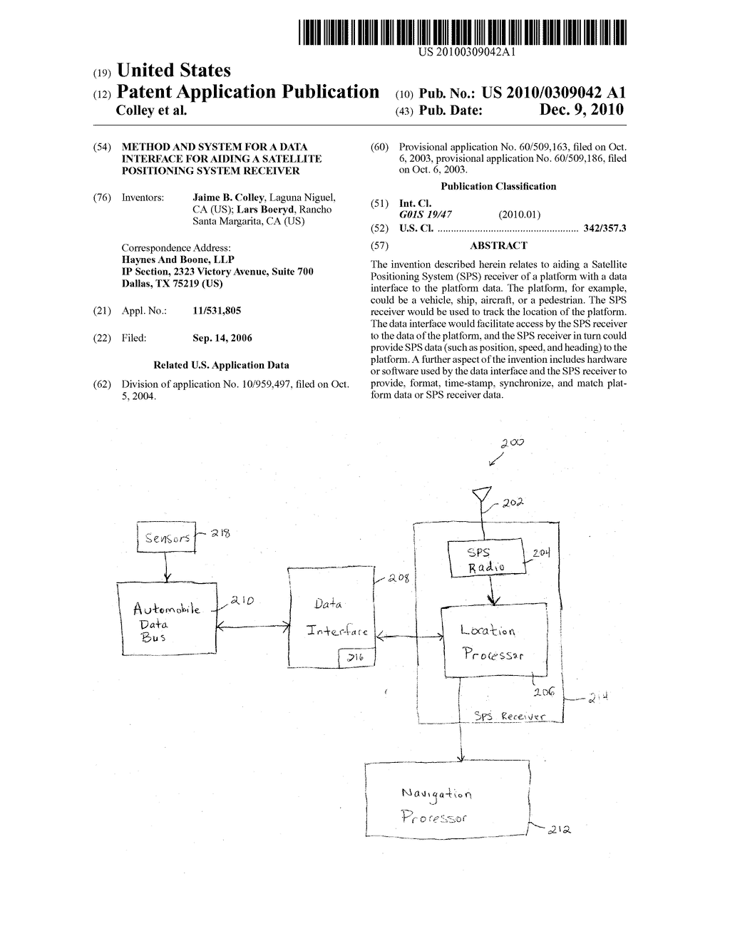 METHOD AND SYSTEM FOR A DATA INTERFACE FOR AIDING A SATELLITE POSITIONING SYSTEM RECEIVER - diagram, schematic, and image 01