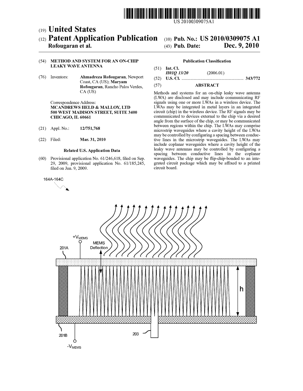 METHOD AND SYSTEM FOR AN ON-CHIP LEAKY WAVE ANTENNA - diagram, schematic, and image 01
