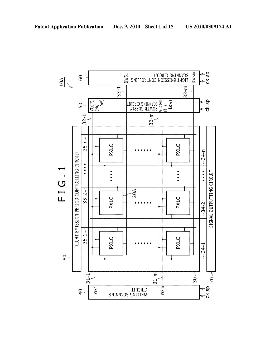 DISPLAY DEVICE, DRIVING METHOD OF DISPLAY DEVICE, AND ELECTRONIC DEVICE PERFORMING DUTY CONTROL OF A PIXEL - diagram, schematic, and image 02