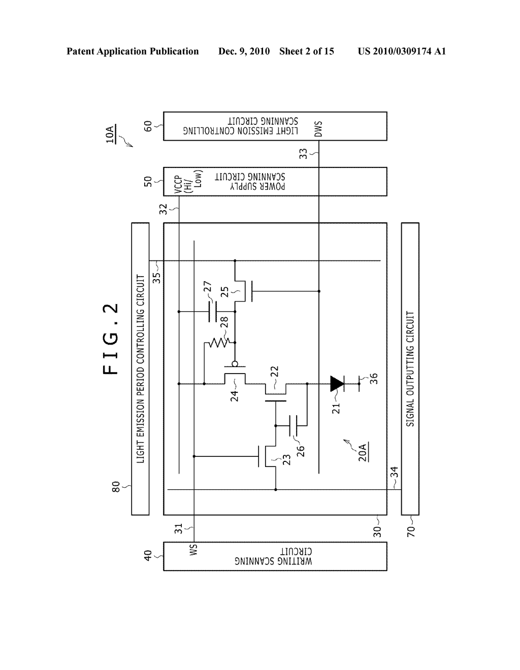DISPLAY DEVICE, DRIVING METHOD OF DISPLAY DEVICE, AND ELECTRONIC DEVICE PERFORMING DUTY CONTROL OF A PIXEL - diagram, schematic, and image 03