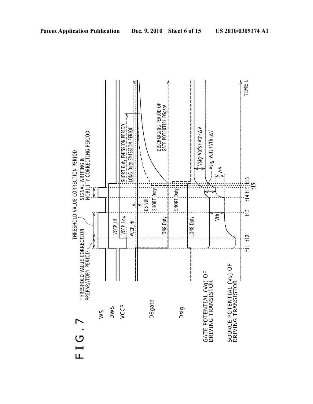 DISPLAY DEVICE, DRIVING METHOD OF DISPLAY DEVICE, AND ELECTRONIC DEVICE PERFORMING DUTY CONTROL OF A PIXEL - diagram, schematic, and image 07