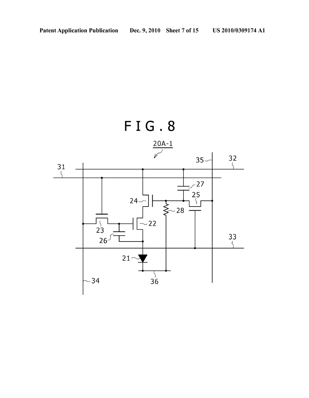 DISPLAY DEVICE, DRIVING METHOD OF DISPLAY DEVICE, AND ELECTRONIC DEVICE PERFORMING DUTY CONTROL OF A PIXEL - diagram, schematic, and image 08