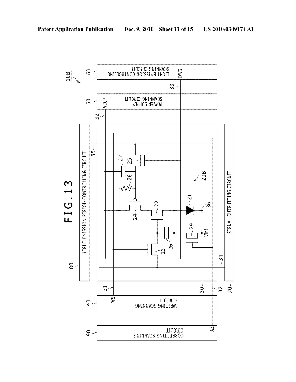 DISPLAY DEVICE, DRIVING METHOD OF DISPLAY DEVICE, AND ELECTRONIC DEVICE PERFORMING DUTY CONTROL OF A PIXEL - diagram, schematic, and image 12