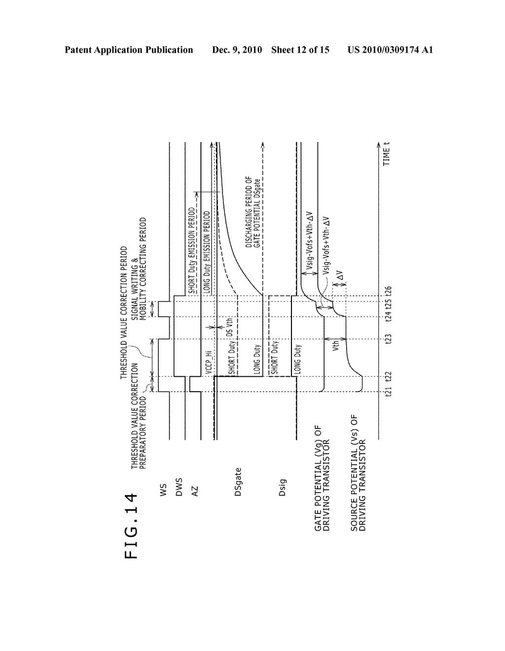 DISPLAY DEVICE, DRIVING METHOD OF DISPLAY DEVICE, AND ELECTRONIC DEVICE PERFORMING DUTY CONTROL OF A PIXEL - diagram, schematic, and image 13