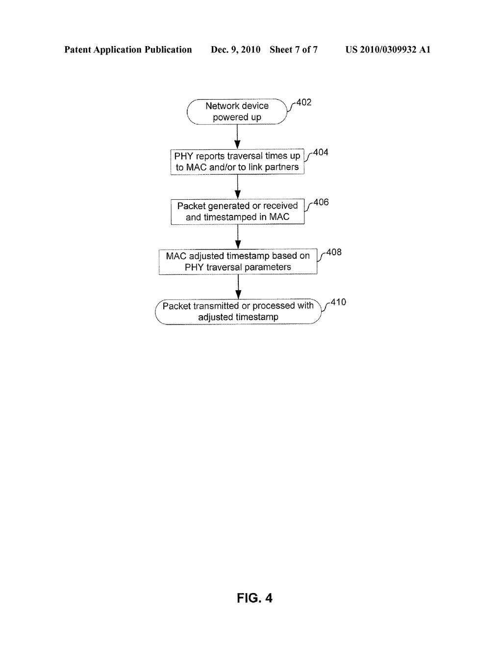 METHOD AND SYSTEM FOR COMPENSATED TIME STAMPING FOR TIME-SENSITIVE NETWORK COMMUNICATIONS - diagram, schematic, and image 08