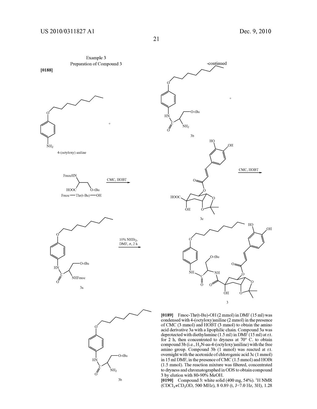 Chlorogenic acid derivatives and their use as anti-fungal agents - diagram, schematic, and image 24