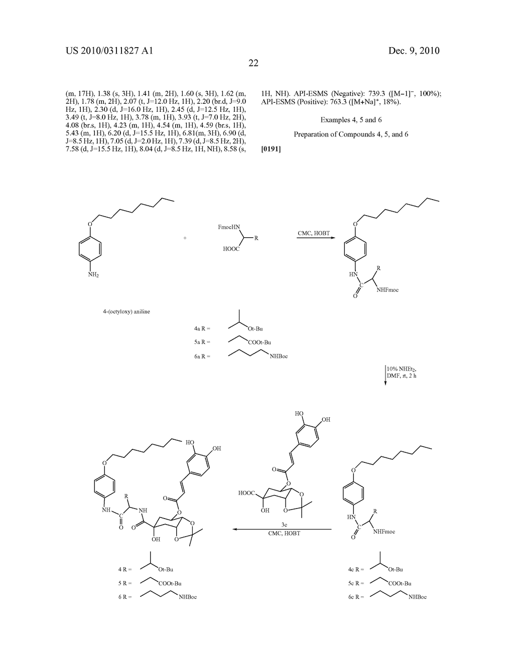 Chlorogenic acid derivatives and their use as anti-fungal agents - diagram, schematic, and image 25