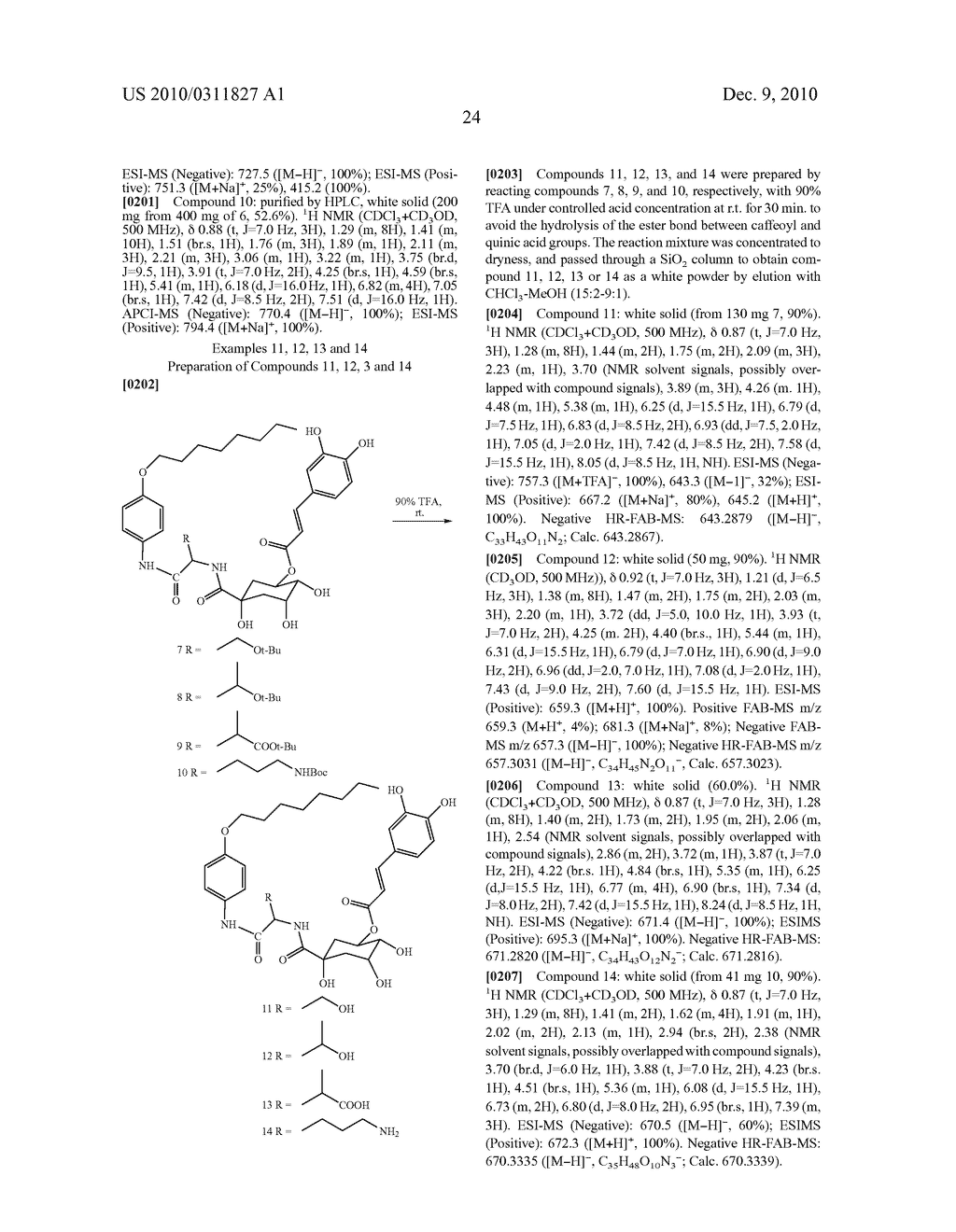 Chlorogenic acid derivatives and their use as anti-fungal agents - diagram, schematic, and image 27