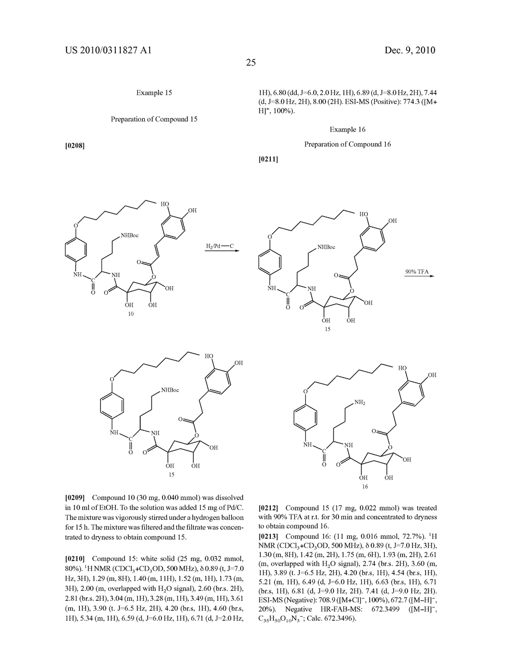Chlorogenic acid derivatives and their use as anti-fungal agents - diagram, schematic, and image 28