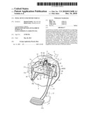 PEDAL DEVICE FOR MOTOR VEHICLE diagram and image