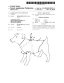 Canine Coat with Incorporated Harness diagram and image