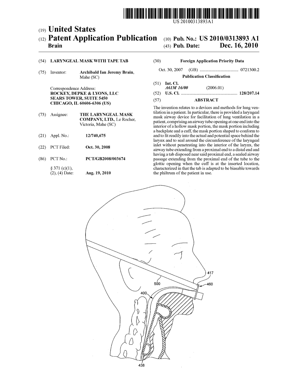 LARYNGEAL MASK WITH TAPE TAB - diagram, schematic, and image 01