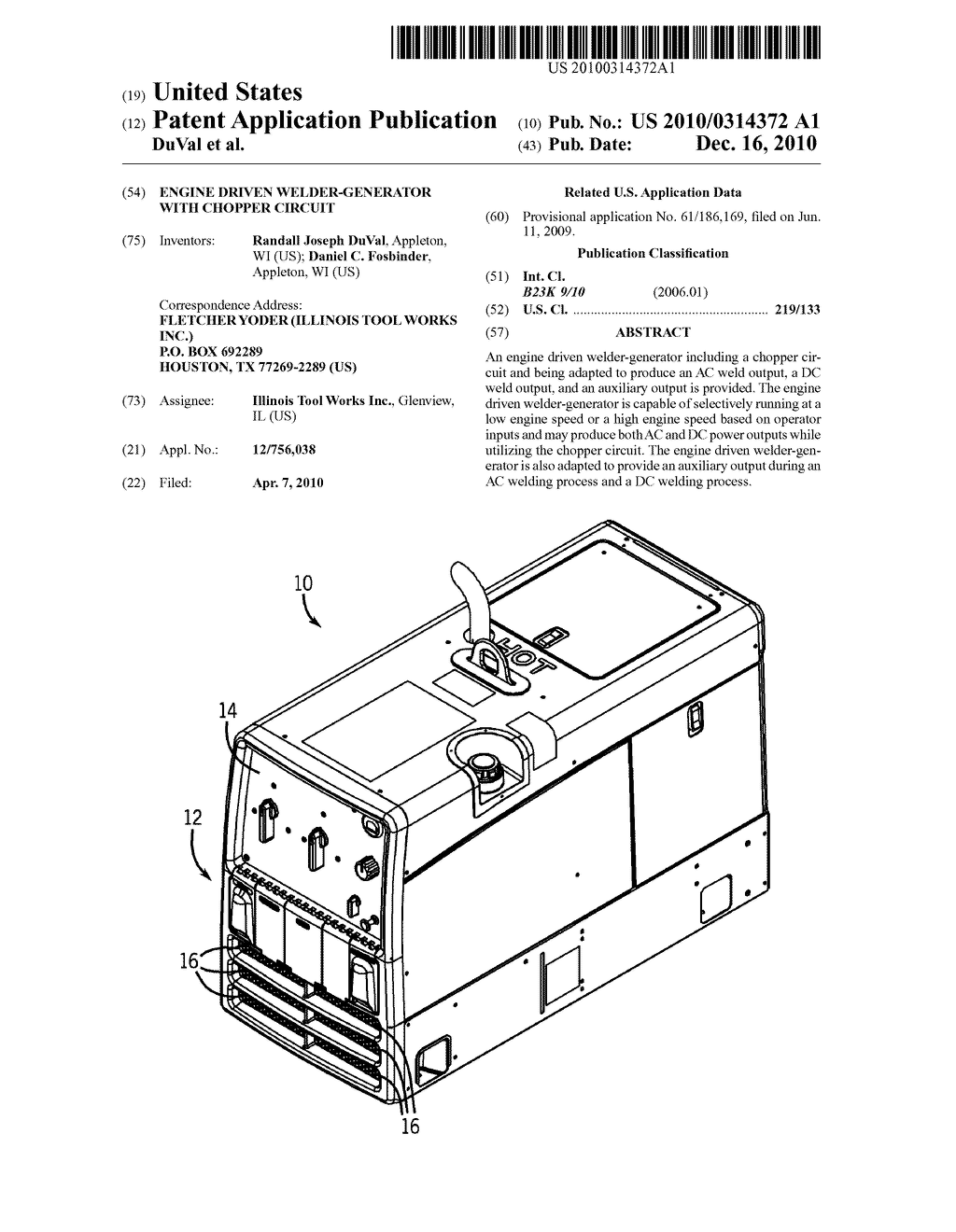 engine driven welder-generator with chopper circuit - diagram, schematic,  and image 01