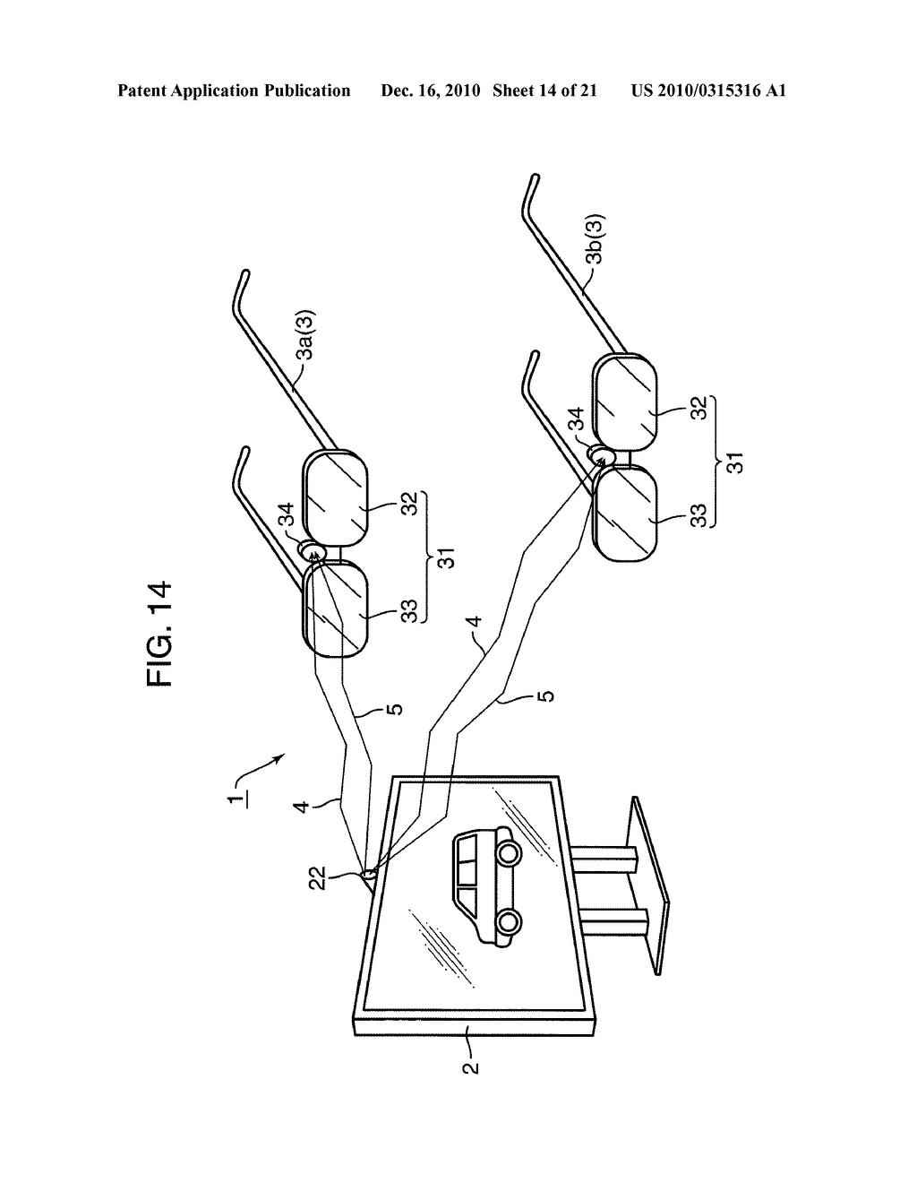 IMAGE SYSTEM, DISPLAY DEVICE AND EYEGLASSES DEVICE USED IN THE SAME - diagram, schematic, and image 15