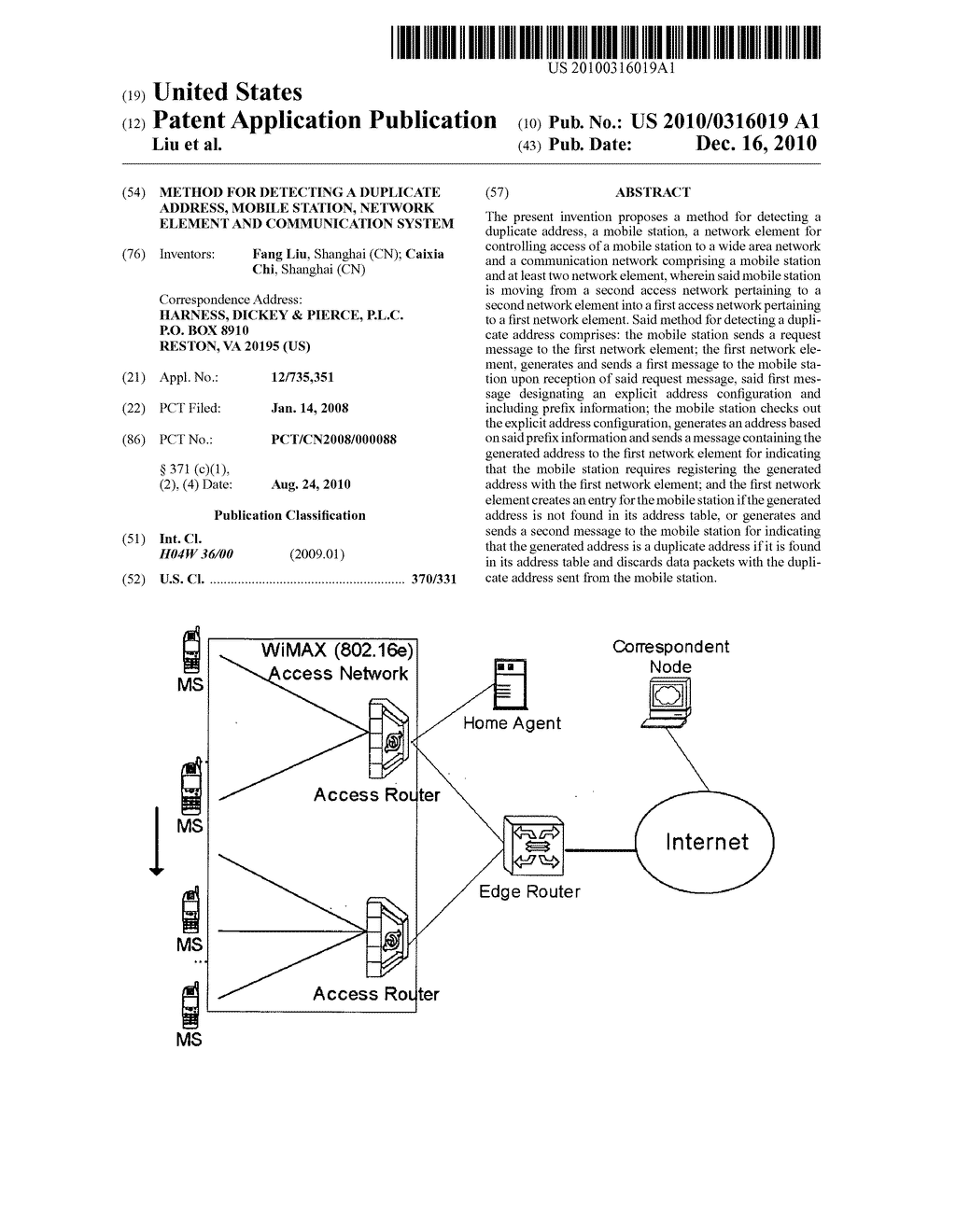 METHOD FOR DETECTING A DUPLICATE ADDRESS, MOBILE STATION, NETWORK ELEMENT AND COMMUNICATION SYSTEM - diagram, schematic, and image 01